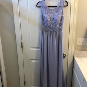 Lavender Lace Formal Gown